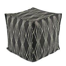 Handcut Shapes Cube Pouf Ottoman