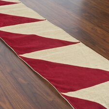 Crimson Triangle Table Runner