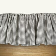 Houndstooth Storm Twill Ruffled Bed Skirt