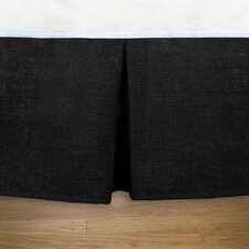 Burlap Pleated Bed Skirt