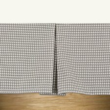 Houndstooth Storm Twill Pleated Bed Skirt