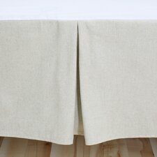 Linen Natural Pleated Bed Skirt