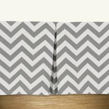 Zig Zag Pleated Bed Skirt