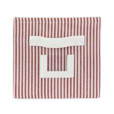Stripe Red Storage Bin