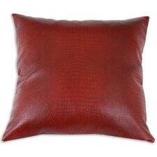 Tinga Rojo Faux Leather Throw Pillow