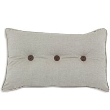 Corded Button Tufted Linen Lumbar Pillow
