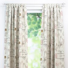 Postale Tab Top Curtain Panel