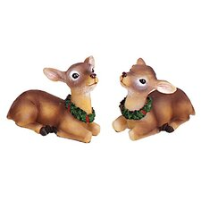 Holiday 2 Piece Sitting Reindeer Set