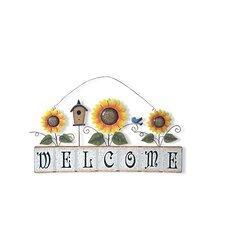 Garden Sunflower Welcome Sign Wall Décor