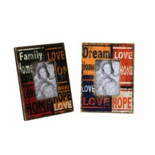 2 Piece Family Dream Rectangle Picture Frame Set