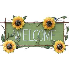 Sunflower Welcome Sign Wall Décor