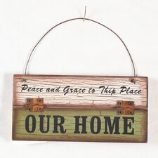 """Our Home"" Wood Wall Décor"