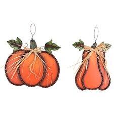 2 Piece Swirled Pumpkin Hanging Wall Décor Set