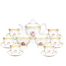 Floral Print 17 Piece Tea Set