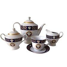 Greek Key 49 Piece Tea Set