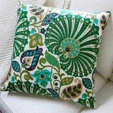 Floral Sateen Cotton Throw Pillow