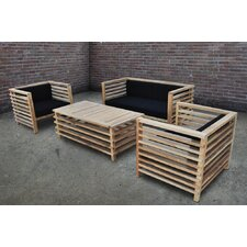 Silva 4 Piece Seating Group with Cushion