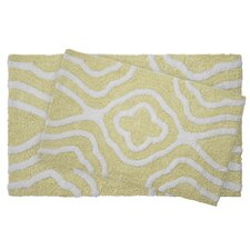 Giri 2 Piece Reversible Cotton Plush Bath Mat Set