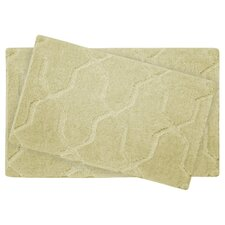 Pearl Drona 2 Piece Bath Mat Set