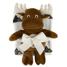 Blanket and Moose Toy Set