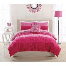 Colorfall Ruching Comforter Set