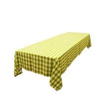 Polyester Gingham Checkered Rectangular Tablecloth