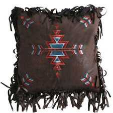Turquoise Chamarro Embroidered CrossThrow Pillow