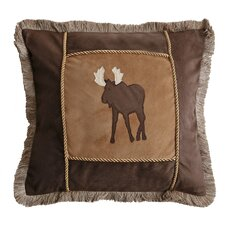 Moose Plaid Moose Throw Pillow