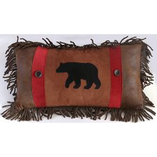 Backwoods Rambling Bear Lumbar Pillow