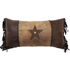 Brown Mustang Rivet Star Lumbar Pillow
