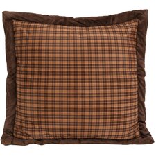 Moose Plaid Euro Sham