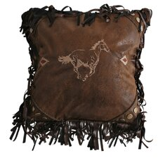 Flying Horse Embroidered Horse Throw Pillow