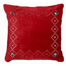 Cimarron Red Velvet Throw Pillow
