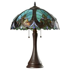 """21.3"""" H Table Lamp with Bowl Shade"""