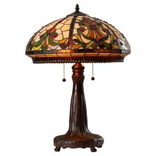 "25"" H Table Lamp with Bowl Shade"