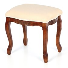 Barden Hand Carved Cushioned Top Vanity Stool