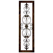 Veritical Metal Wall Décor Plaque in Brown