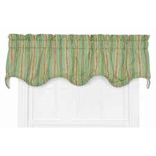 Beeching Lined Cotton Blend Rod Pocket Scalloped Curtain Valance