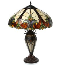 "Chipley Roosevelt 25"" H Table Lamp with Bowl Shade"