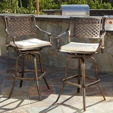 "Charlton 29.5"" Bar Stool with Cushion (Set of 2)"
