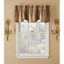 "Weatherwax Stripe Scroll Jacquards Rod Pocket 54"" Curtain Valance (Set of 2)"