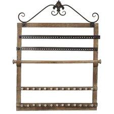 Wood Wall Mounted Jewelry Holder
