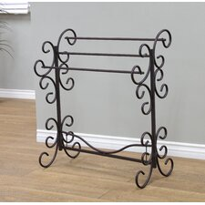 Metal Scroll Quilt Rack