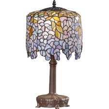 """Doughty 19.5"""" H Tiffany Style Table Lamp with Drum Shade"""