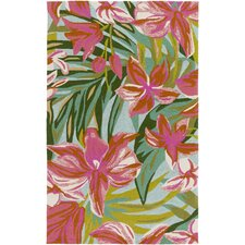 Shelly Bay Pink/Green Indoor/Outdoor Area Rug