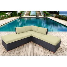 Scholtz Corner Deep Seating Sectional with Cushions