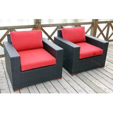 Scholtz Deep Seating Chair with Cushion (Set of 2)