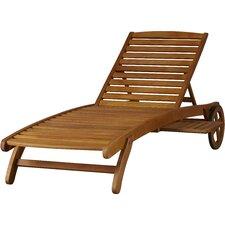 Dracaena Balau Wood Patio Chaise Lounge