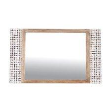 Kepir Rectangle Dresser Mirror in White Wash