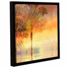 Palmae Reflections Gold Framed Painting Print